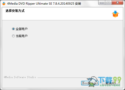 4Media DVD Ripper Ultimate SE 7.8.4安装界面